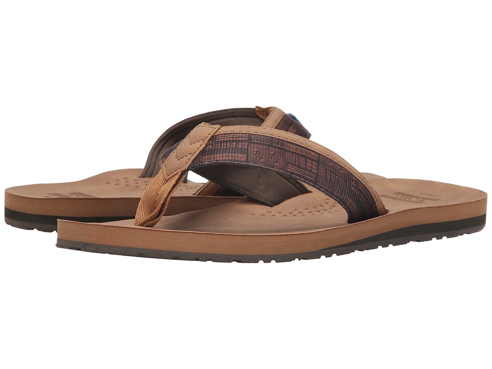 TOMS - Verano Flip Flop (Light Tan Tiki) Men's Sandals