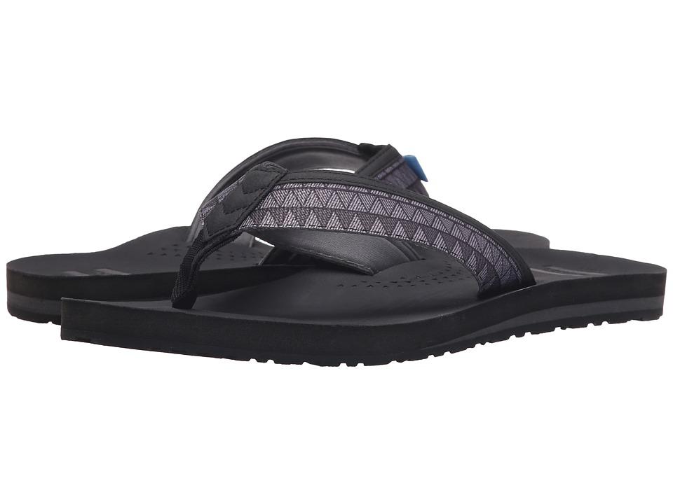 TOMS - Verano Flip Flop (Black Zig Zag) Men's Sandals