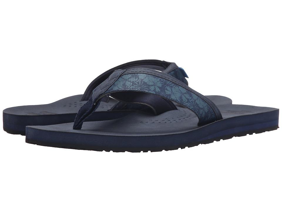 TOMS - Verano Flip Flop (Navy Hibiscus) Men's Sandals