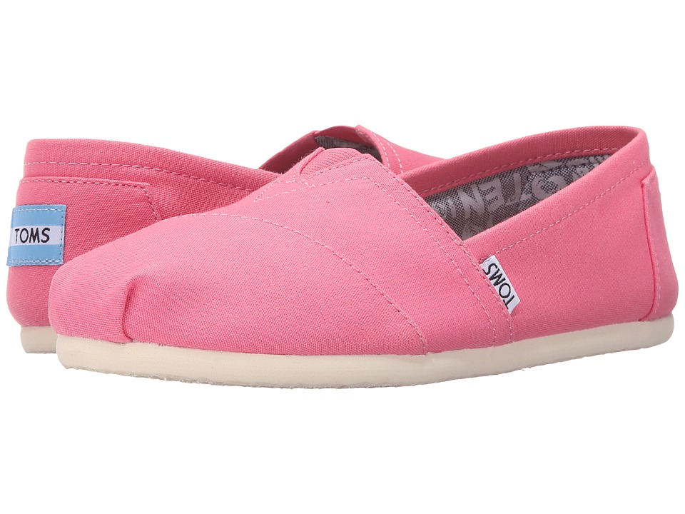 TOMS - Seasonal Classics (Pink Lemonade Canvas) Women's Slip on Shoes