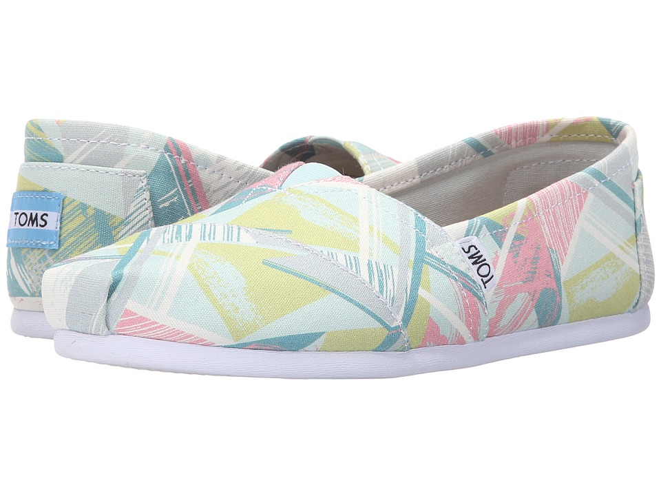 TOMS - Seasonal Classics (Pastel Multi Canvas Triangles) Women's Slip on Shoes