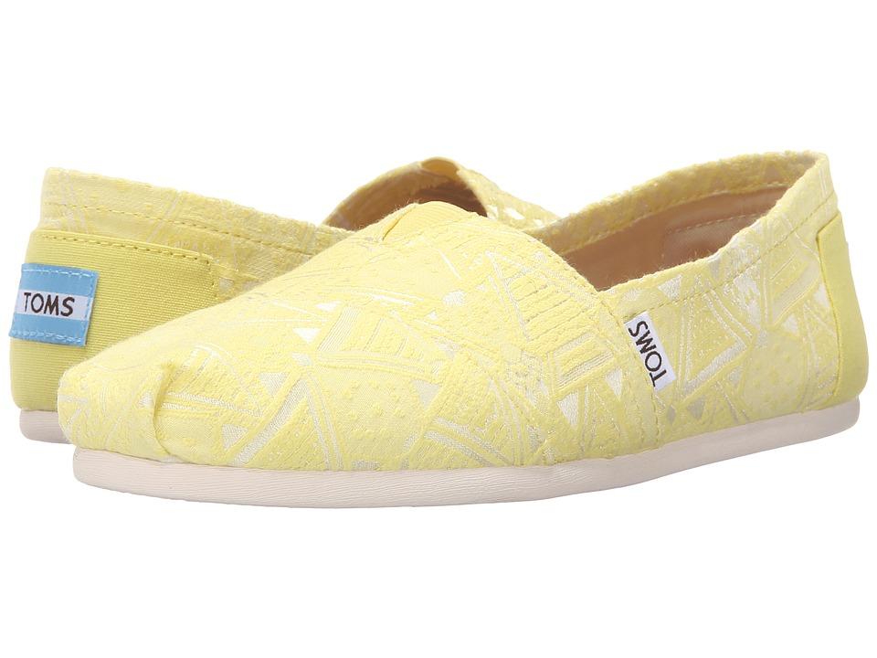 TOMS - Seasonal Classics (Citron Neon Tribal) Women's Slip on Shoes