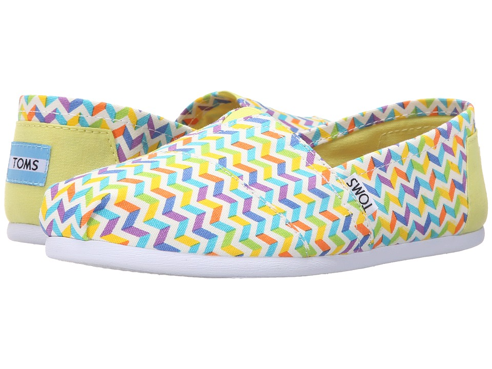 TOMS - Seasonal Classics (Multi Canvas Chevron) Women's Slip on Shoes