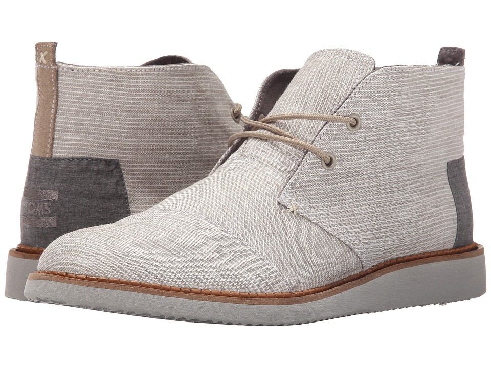 TOMS - Mateo Chukka Boot (Light Grey Pinstripe) Men's Lace-up Boots