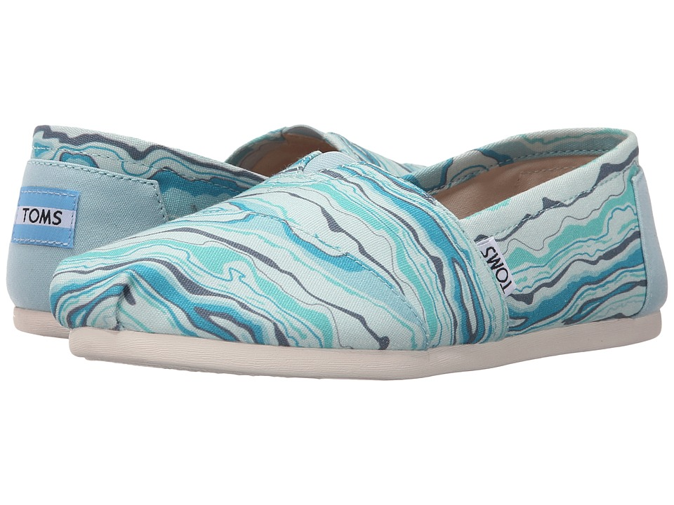 TOMS - Seasonal Classics (Turquoise Canvas/Rock Geology) Women's Slip on Shoes