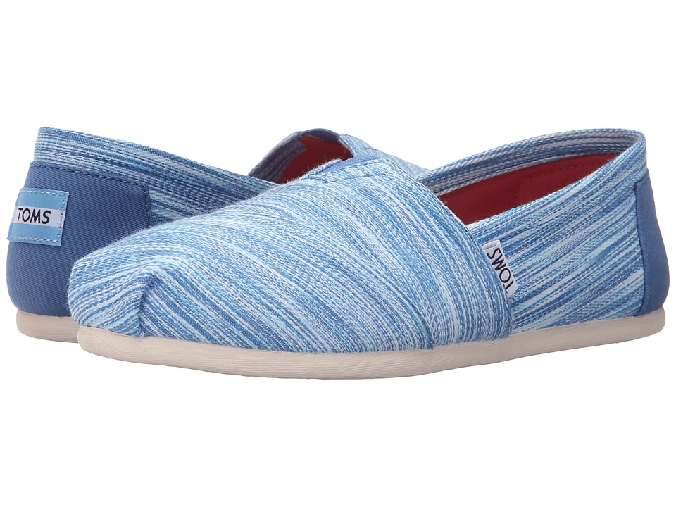 TOMS - Seasonal Classics (Blue Space Dye) Women's Slip on Shoes