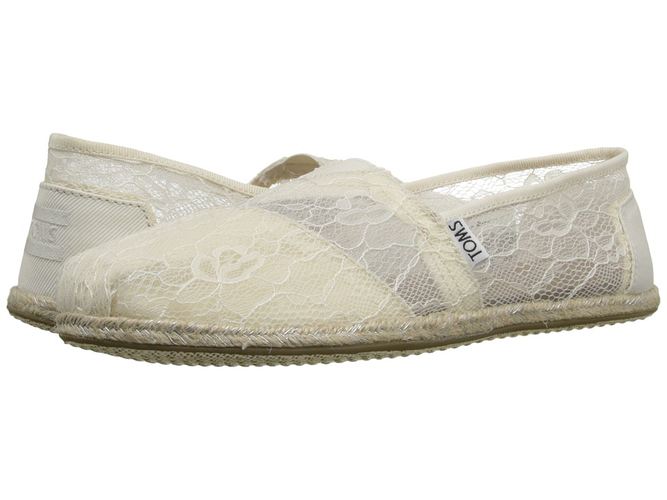 TOMS - Wedding Classic (White Lace) Women's Slip on Shoes