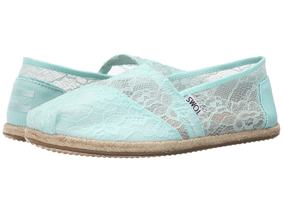 TOMS - Wedding Classic (Mint Lace) Women's Slip on Shoes