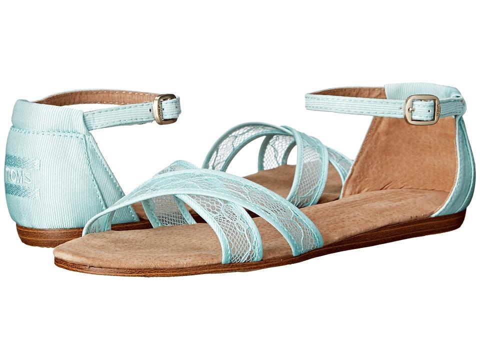 TOMS - Wedding Sandal (Light Blue Lace) Women's Sandals
