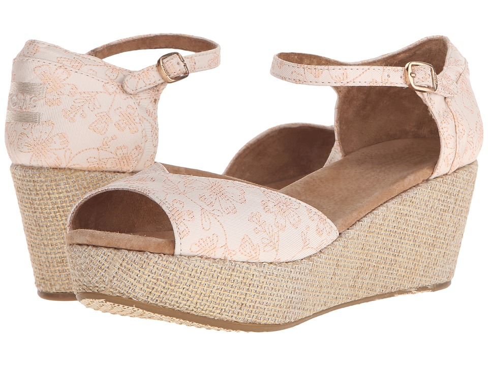 TOMS - Wedding Wedge 2 (Floral Jacquard) Women's Wedge Shoes