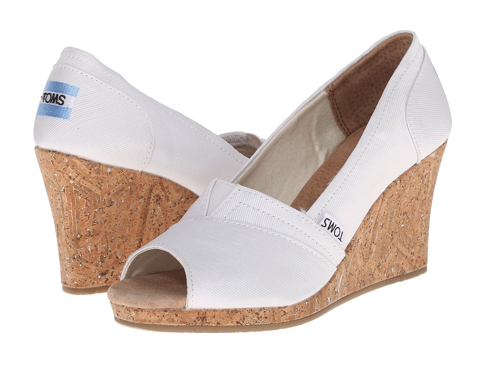 TOMS - Wedding Wedge 3 (White) Women's Wedge Shoes