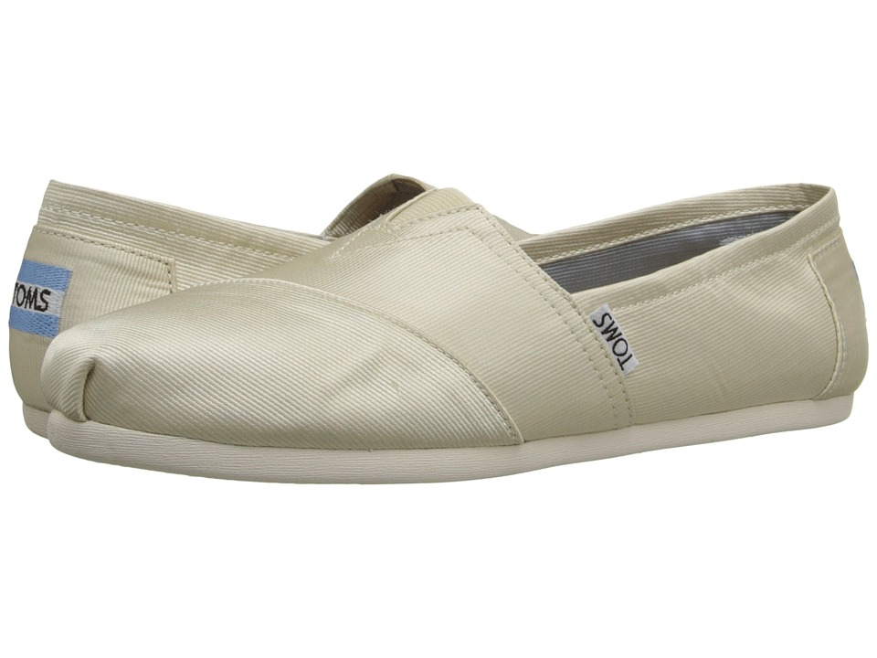 TOMS - Wedding Classic (Ivory Grosgrain) Women's Slip on Shoes