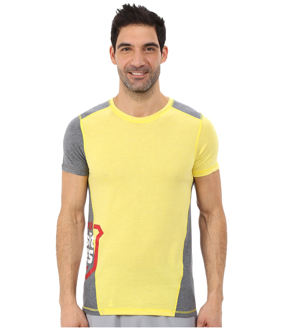 Reebok - Crossfit Tri-Blend Short Sleeve Top (Stinger Yellow) Men's Clothing