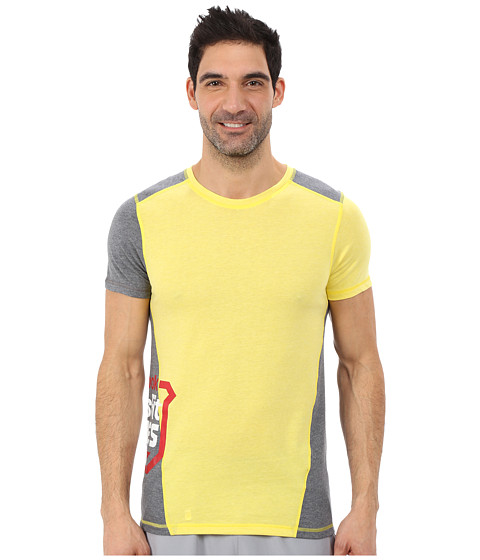 Reebok - Crossfit Tri-Blend Short Sleeve Top (Stinger Yellow) Men