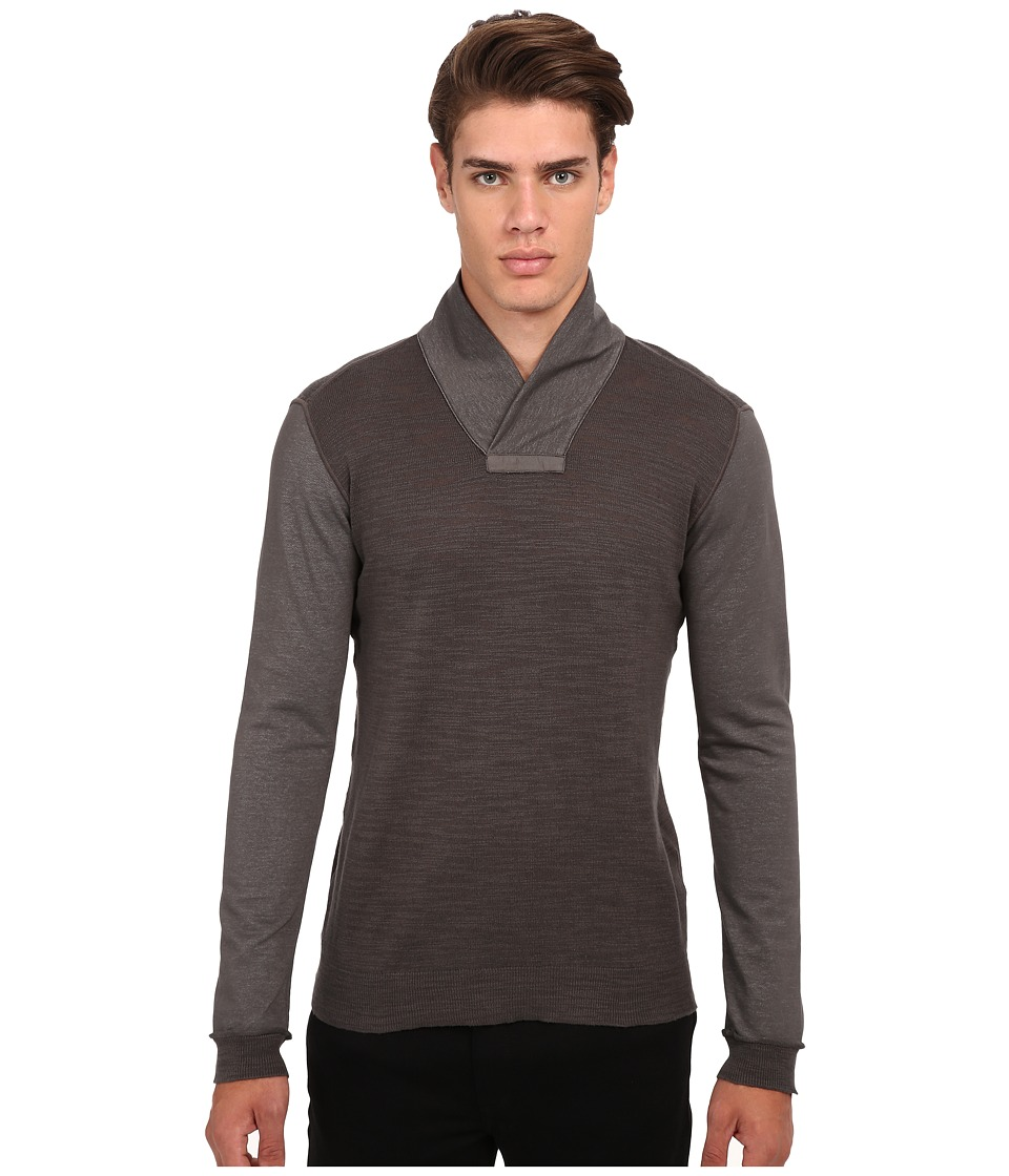 John Varvatos Star U.S.A. - Long Sleeve Pullover Sweater Y1235R4B (Cast Iron) Men's Sweater