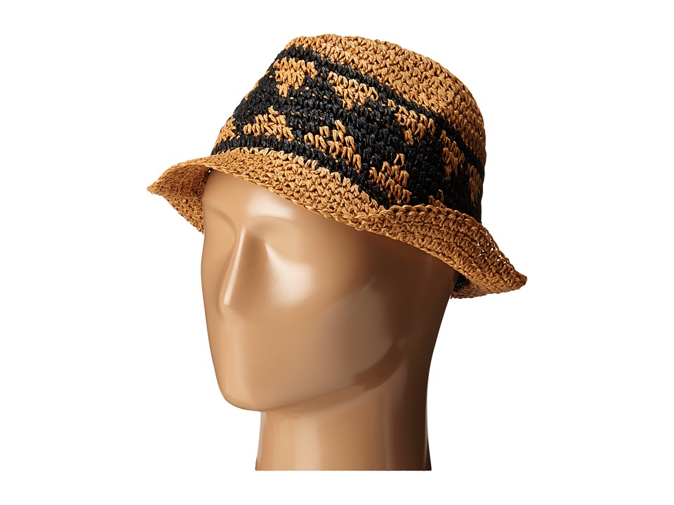 Volcom - Ibiza Straw Fedora (Tan) Fedora Hats
