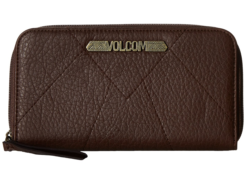 Volcom - Pinky Swear Zip Wallet (Brown) Wallet Handbags