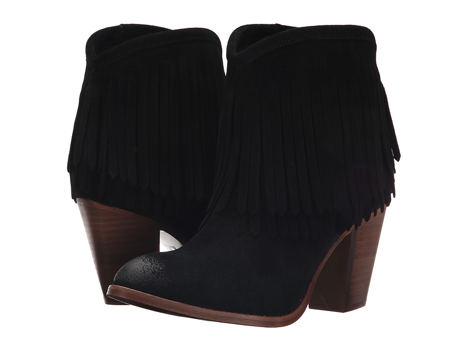 Frye - Ilana Fringe Short (Black) Women