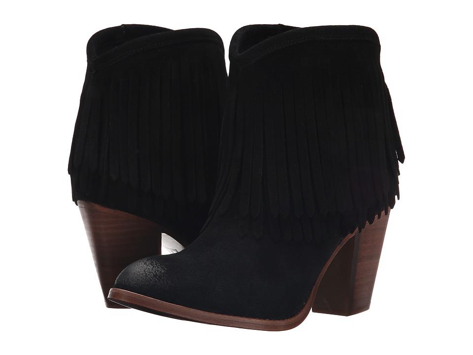 Frye - Ilana Fringe Short (Black) Women's Shoes