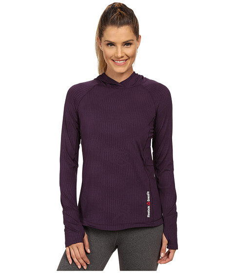 Reebok - CrossFit Lightweight Training Hoodie (Portrait Purple) Women