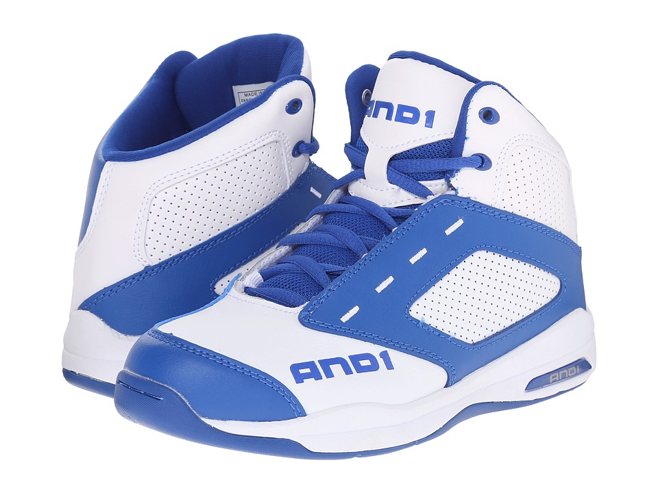AND1 Kids - Typhoon (Little Kid/Big Kid) (Royal/Bright White/Bright White) Boys Shoes
