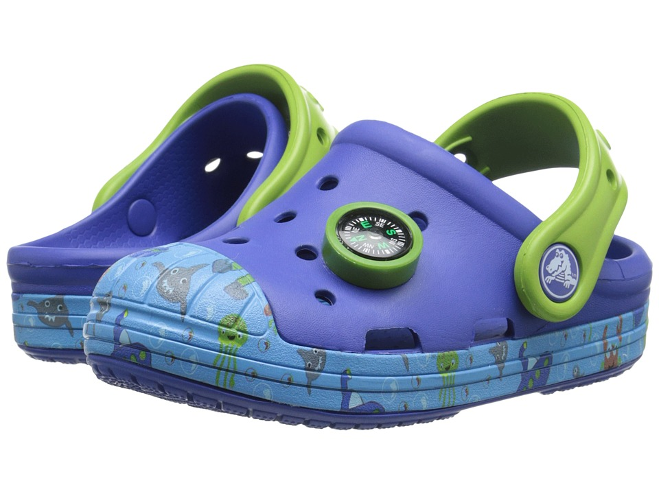 Crocs Kids - Bump It Sea Life Clog (Toddler/Little Kid) (Cerulean Blue) Boys Shoes