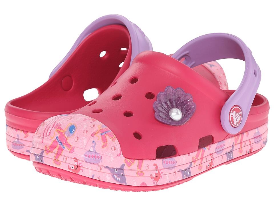 Crocs Kids - Bump It Sea Life Clog (Toddler/Little Kid) (Raspberry) Girls Shoes