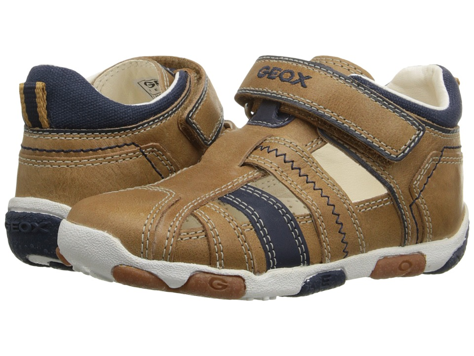 Geox Kids - Baby Balu Boy 50 (Infant/Toddler) (Caramel/Navy) Boy's Shoes
