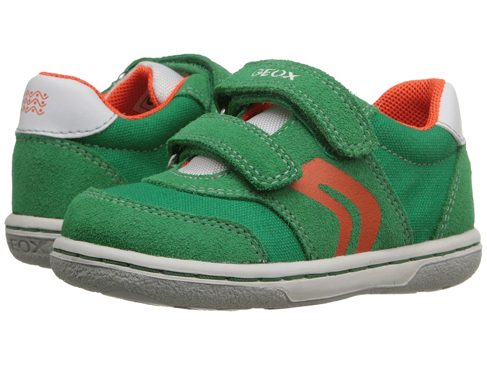 Geox Kids - Baby Flick Boy 44 (Toddler) (Green/Orange) Boys Shoes
