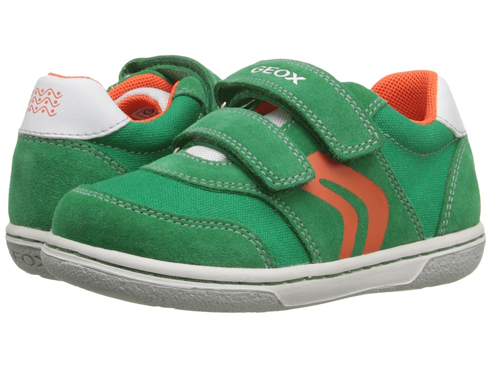 Geox Kids - Baby Flick Boy 44 (Toddler) (Green/Orange) Boy's Shoes