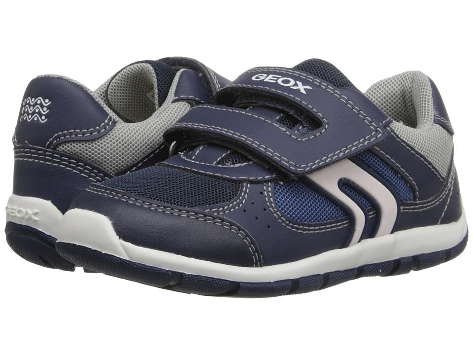 Geox Kids - Baby Shaax Boy 18 (Toddler) (Navy/Dark Navy) Boy's Shoes