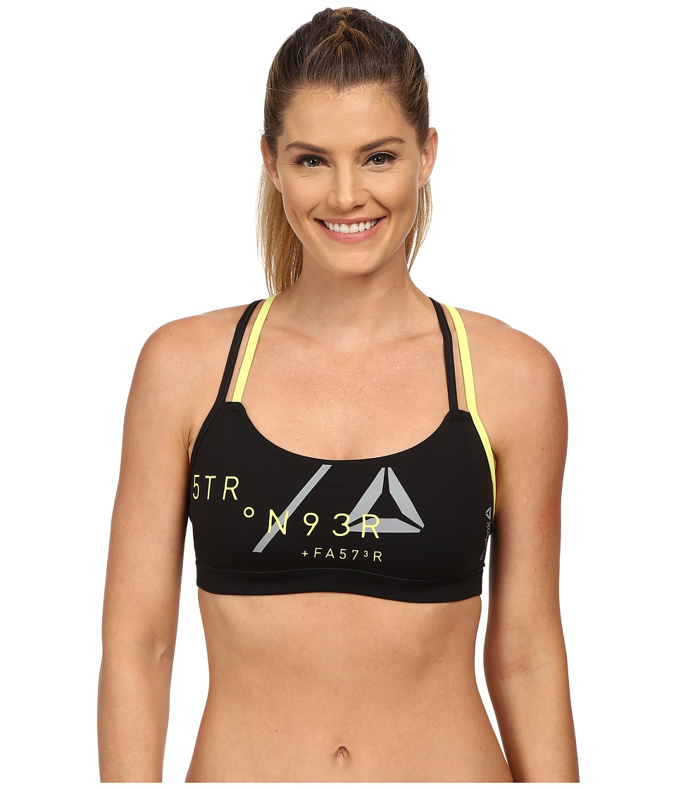 Reebok - Delta Graphic Bra (Black/Black) Women's Bra