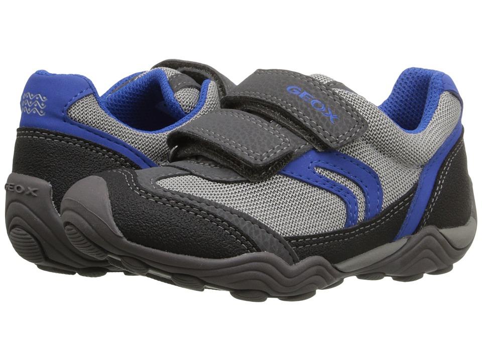 Geox Kids - Jr Arno Boy 10 (Toddler/Little Kid) (Grey/Royal) Boy's Shoes