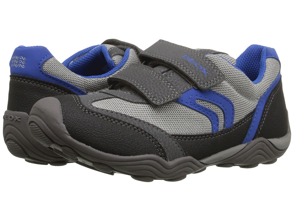 Geox Kids - Jr Arno Boy 10 (Little Kid/Big Kid) (Grey/Royal) Boys Shoes