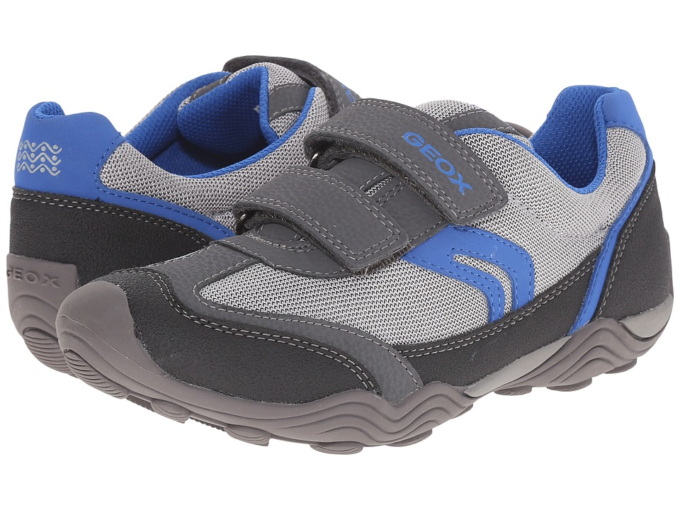 Geox Kids - Jr Arno Boy 10 (Big Kid) (Grey/Royal) Boys Shoes