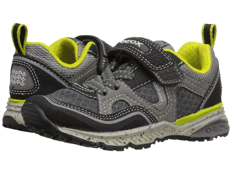 Geox Kids - Jr Bernie 10 (Toddler/Little Kid) (Black/Lime) Boys Shoes