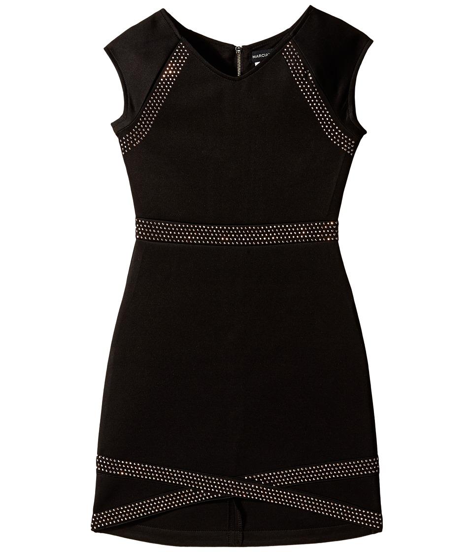 Marciano Kids - Studded Tulip Dress (Big Kids) (Black) Girl