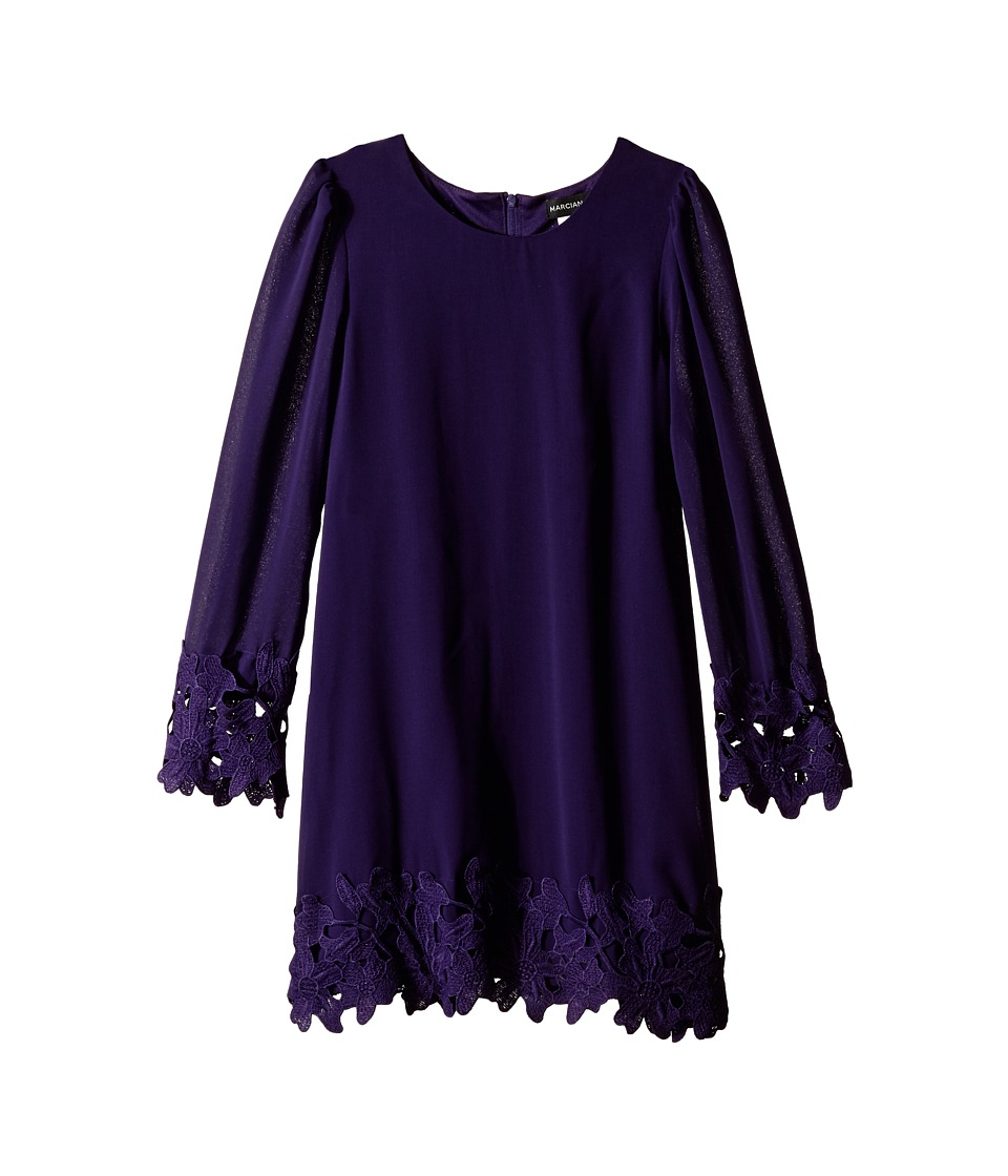 Marciano Kids - Crepe Dress (Big Kids) (Purple) Girl