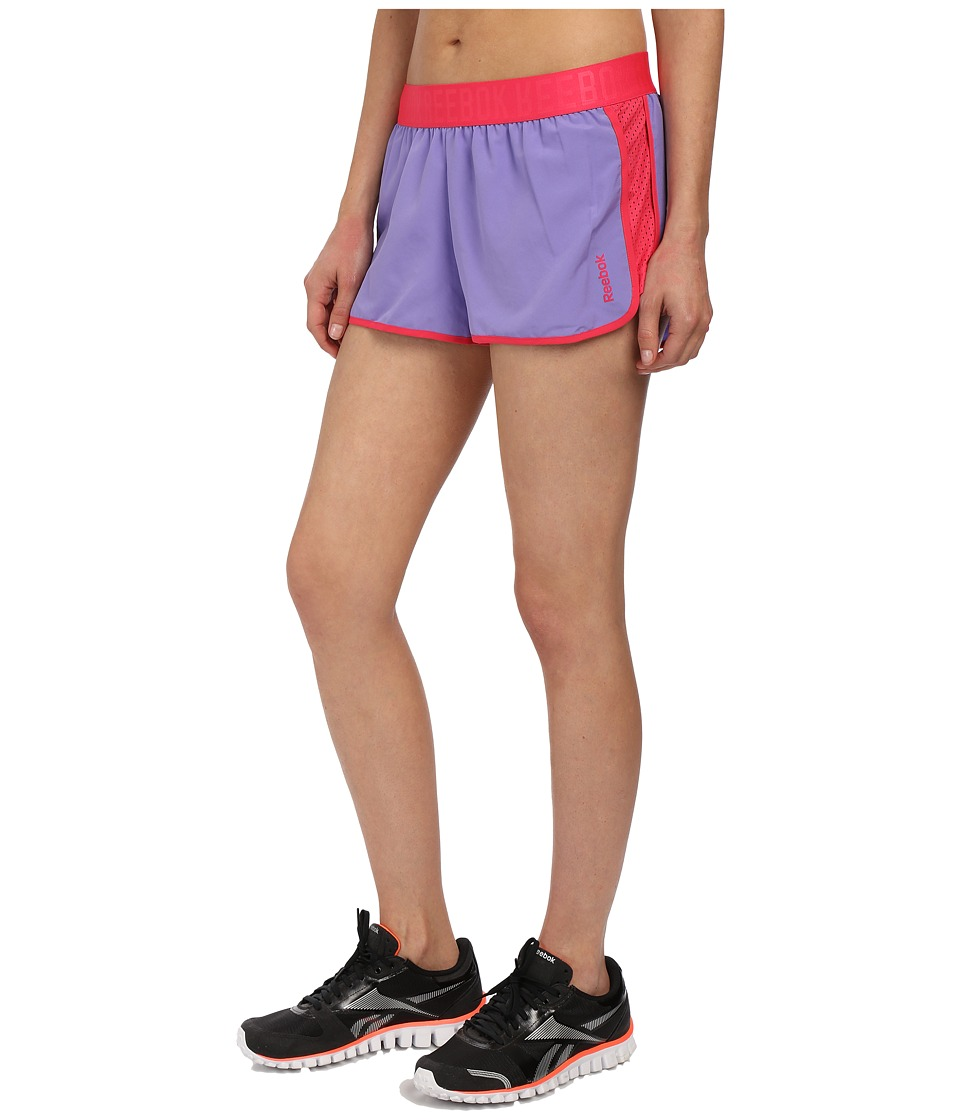Reebok - Workout Ready Woven Shorts (Lush Orchid) Women's Shorts