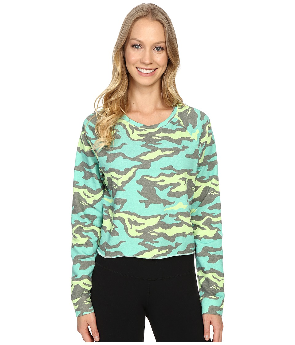 Reebok - Yoga Camo Cover-Up (Luminous Lime) Women's Clothing