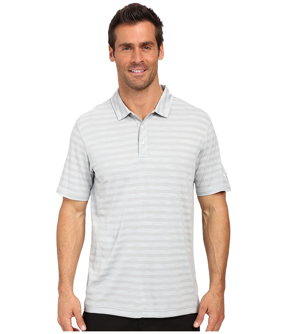 PUMA Golf - ESS Mixed Stripe Polo (Quarry) Men's Clothing