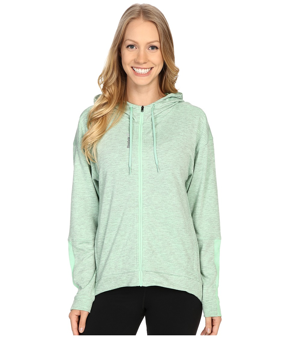 Reebok - Workout Ready Zip Hoodie (Seafoam Green) Women's Sweatshirt