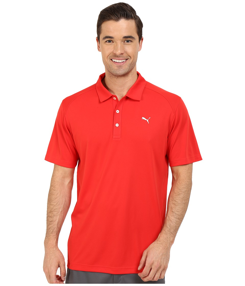 PUMA Golf - ESS Pounce Polo (High Risk Red) Men's Clothing