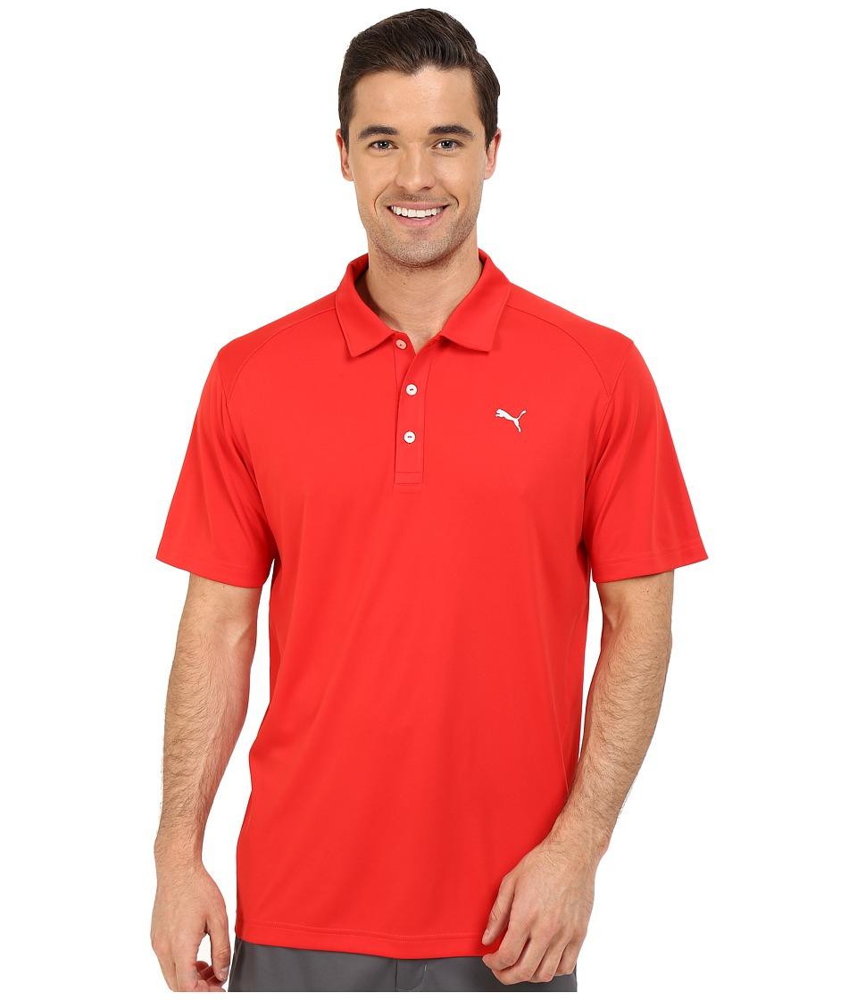 PUMA Golf - ESS Pounce Polo (High Risk Red) Men's Clothing