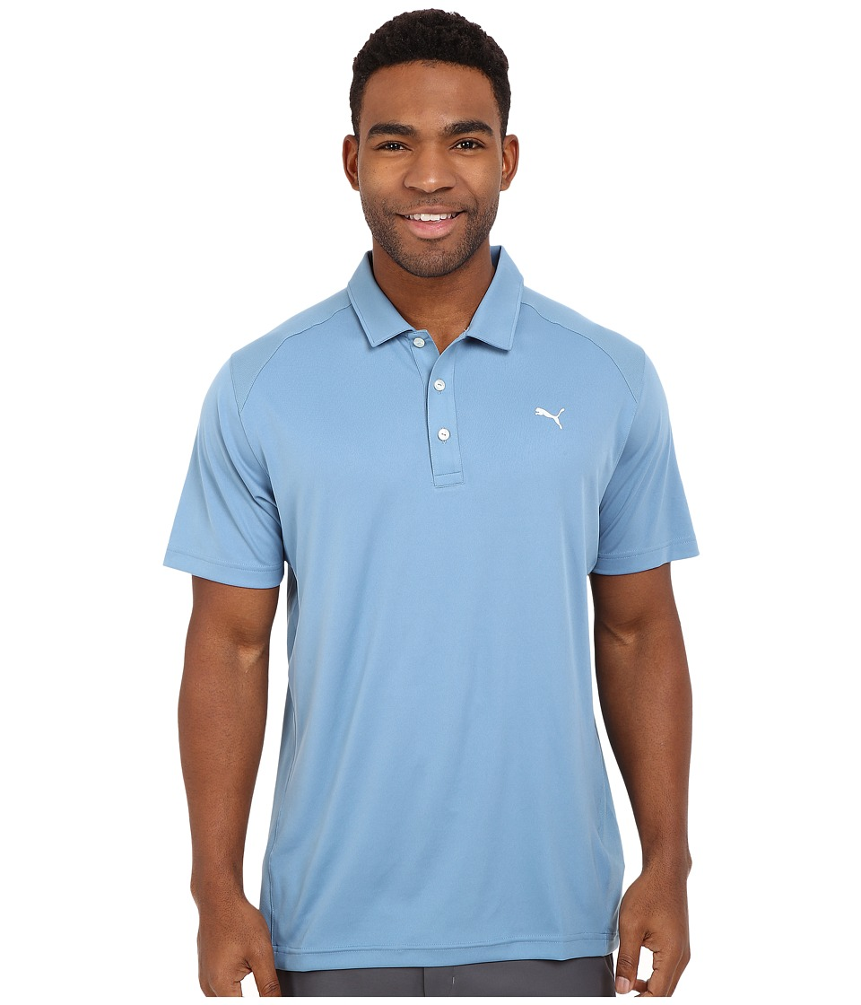 PUMA Golf - ESS Pounce Polo (Blue Heaven) Men's Clothing