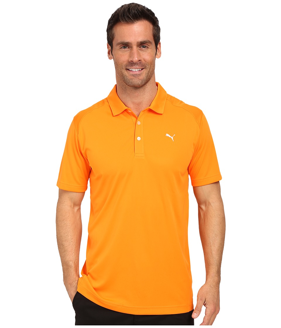 PUMA Golf - ESS Pounce Polo (Vibrant Orange) Men's Clothing