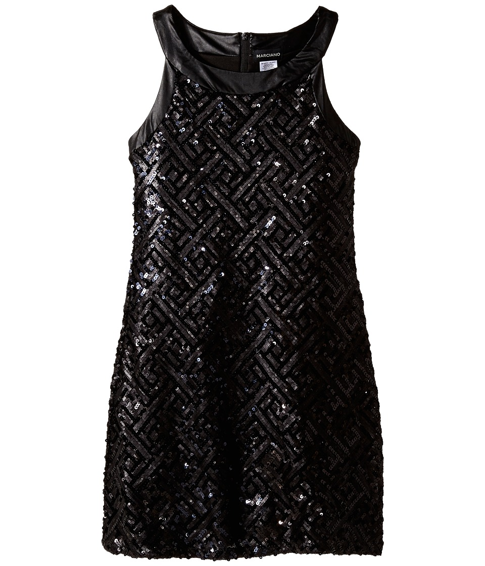 Marciano Kids - Sequins Tunic Dress (Big Kids) (Black) Girl