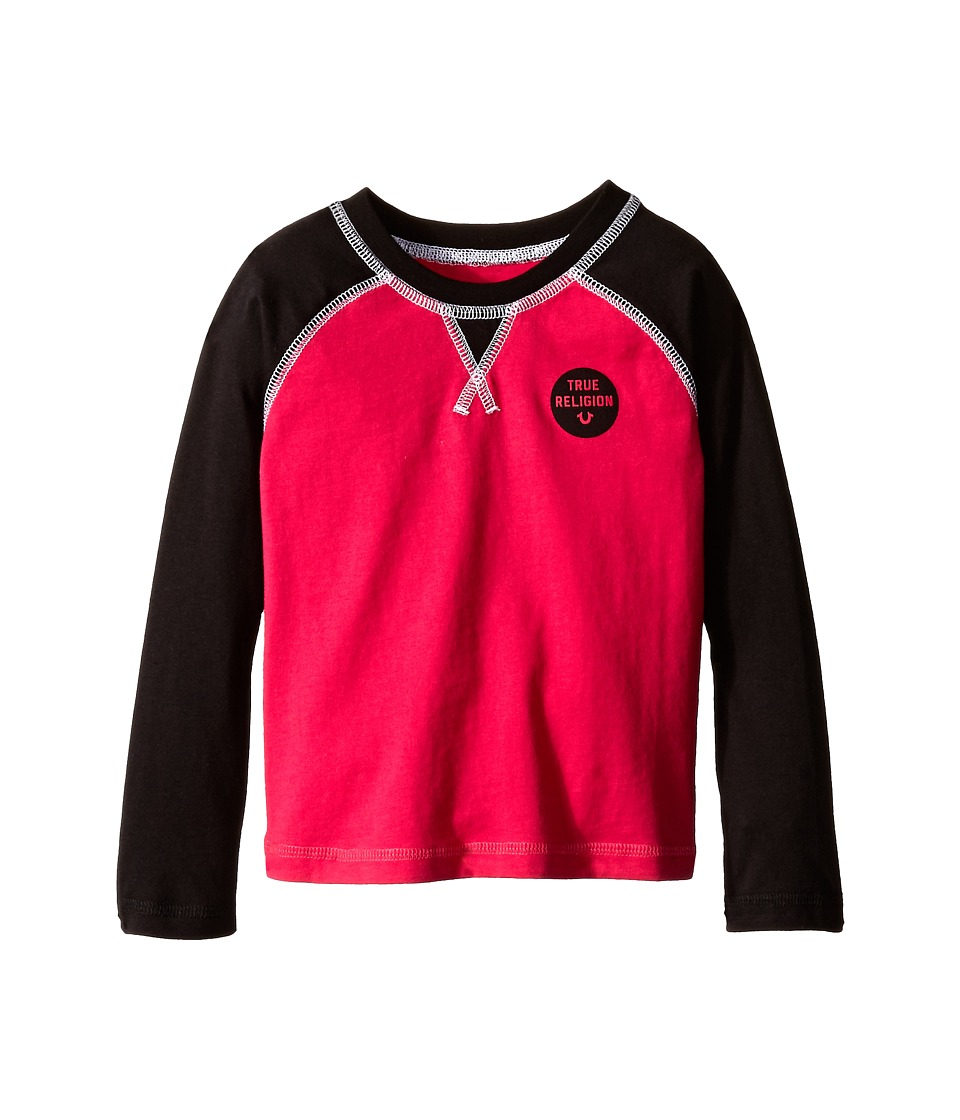 True Religion Kids - Long Sleeve Raglan Graphic Tee Shirt (Toddler/Little Kids) (Fuchsia) Girl's T Shirt