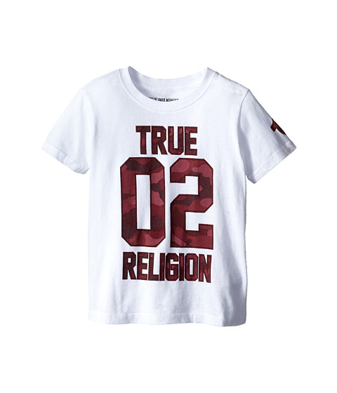 True Religion Kids - True Religion 02 Camo Print Tee Shirt (Toddler/Little Kids) (White) Boy