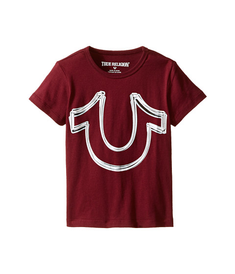 True Religion Kids - Reflective Print Horse Shoe Tee Shirt (Toddler/Little Kids) (Tawny Port) Boy's T Shirt